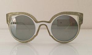 Fendi Occhiale stile retro bianco Materiale sintetico
