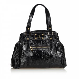 Fendi Patent Leather Bag Du Jour Tote