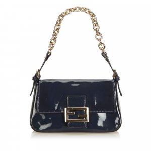 Fendi Patent Leather Chain Mamma Baguette