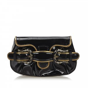 Fendi Patent Leather Clutch Bag