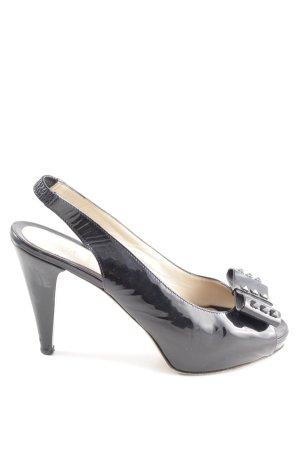 Fendi Peeptoe Pumps schwarz Elegant