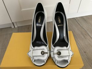 FENDI Peeptoes , 37, weiß