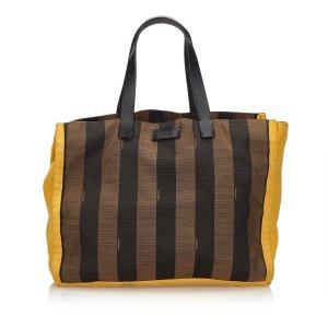 Fendi Pequin Jacquard Tote Bag