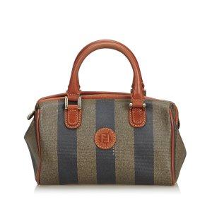 Fendi Pequin Mini Boston Bag