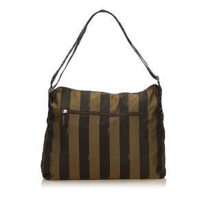 Fendi Pequin Nylon Shoulder Bag