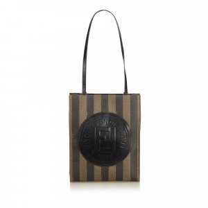Fendi Pequin Tote Bag