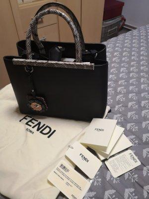 Fendi Petite 2Jours Elaphe Details Black