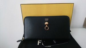 Fendi Wallet black-gold-colored leather