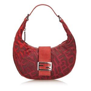 Fendi Printed Chemical Fiber Handbag