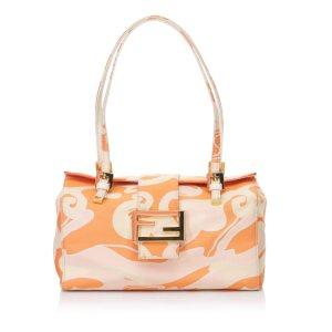 Fendi Printed Jacquard Shoulder Bag