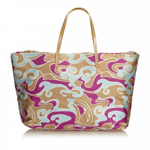 Fendi Printed Jacquard Tote Bag