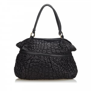 Fendi Puckered Bubble Leather Chef Shoulder Bag
