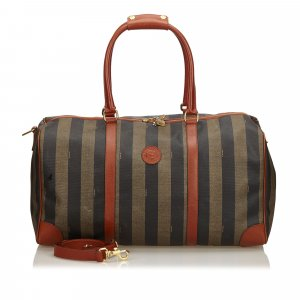 Fendi PVC Pequin Duffel Bag
