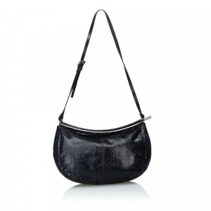 Fendi Hobos black reptile leather