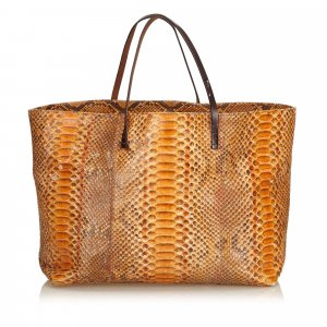 Fendi Python Leather Tote