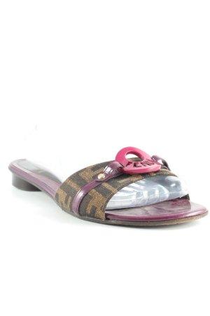 Fendi Riemchen-Sandalen abstraktes Muster Casual-Look