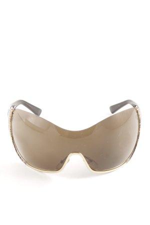 Fendi runde Sonnenbrille braun-goldfarben Casual-Look
