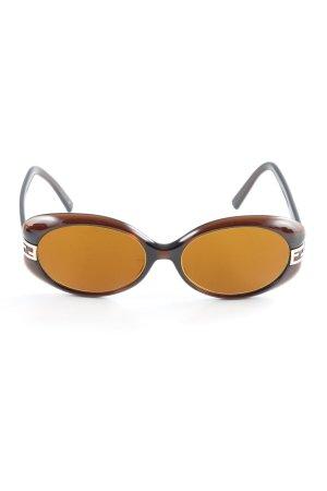 Fendi runde Sonnenbrille braun-hellbraun Paris-Look