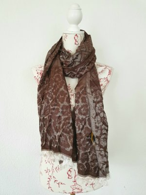 Fendi Silk Scarf silver-colored-brown violet