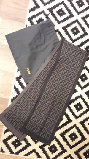 Fendi Schal Wollschal Logo Monogram Grau Dustbag