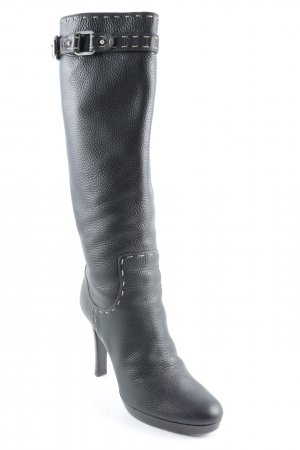Fendi Schlüpf-Stiefeletten dunkelbraun Business-Look