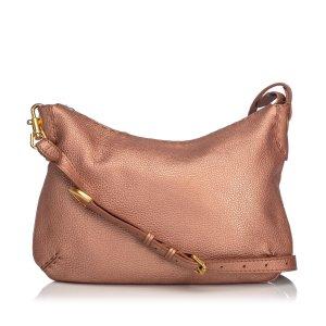 Fendi Seleria Leather Shoulder Bag
