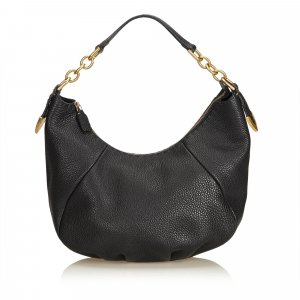 Fendi Selleria Leather Chain Hobo Bag