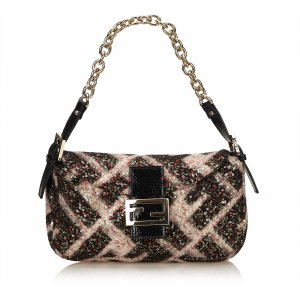Fendi Sequined Chain Handbag