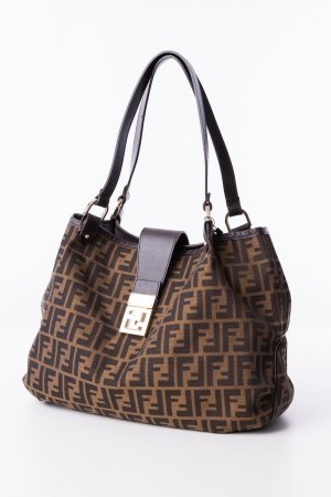 Fendi Borsa shopper marrone scuro-marrone Pelle