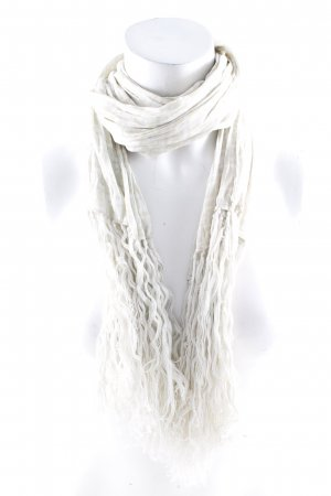 Fendi Chal veraniego blanco puro-beige estilo clásico