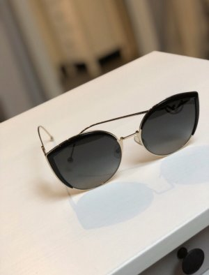 Fendi Butterfly Glasses black-gold-colored