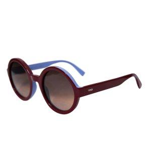 Fendi Sonnenbrille aus Kunsstoff, Blau und Bordeaux
