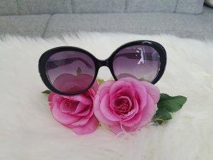 Fendi Sonnenbrille schwarz weiss rund Designer
