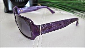 Fendi Lunettes de soleil angulaires violet foncé-argenté