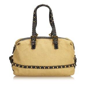 Fendi Studded Cotton Shoulder Bag