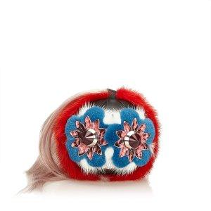 Fendi Studded Fur Pom-Pom Bag Charm