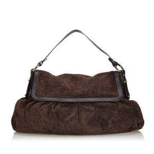 Fendi Suede Chef Shoulder Bag