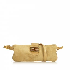 Fendi Suede Crossbody Bag