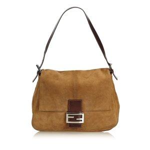 Fendi Shoulder Bag light brown suede