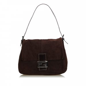 Fendi Suede Mamma Forever Shoulder Bag