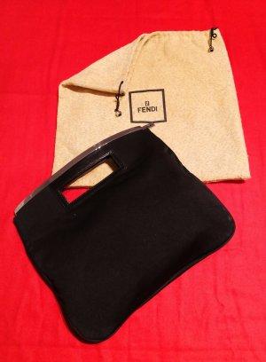 Fendi Handbag black-silver-colored