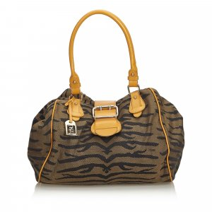 Fendi Tiger Print Jacquard Handbag