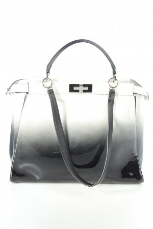 "Fendi Tote ""Peekaboo Large White/Black/Cream"""
