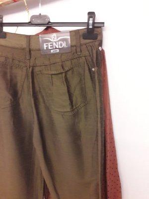 Fendi Pantalon taille haute multicolore