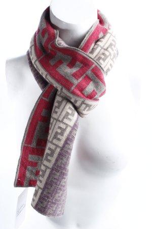 Fendi Wollschal abstraktes Muster Street-Fashion-Look