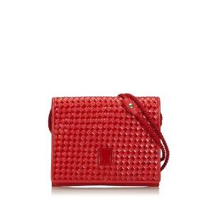 Fendi Woven Leather Crossbody Bag