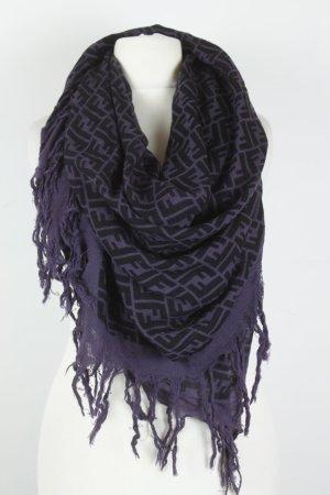 FENDI XL Tuch dark purple black - Designer