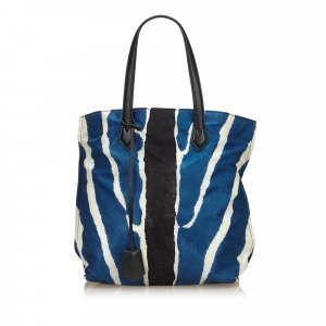Fendi Borsa larga blu Nylon