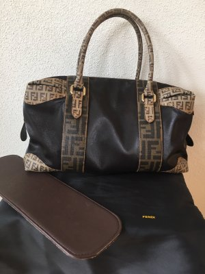 Fendi Zucca Canvas Boston Stil Handbag / Handtasche / Schultertasche / Purse inkl. Extras