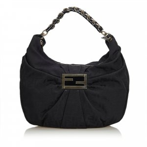 Fendi Zucca Canvas Mia Hobo Bag